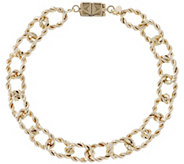 Vicenza Gold 7-1/4 Twisted Bracelet w/ Click Secure 14K, 5.1g - J345605