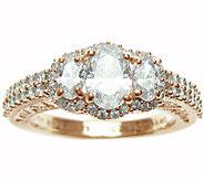 Judith Ripka 14K Rose Gold-Clad Diamonique HaloRing - J345805