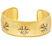 As Is Genesi 18K Clad White Topaz Cuff Bracelet, 23.0g - J348105