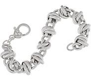 Judith Ripka 7-1/4 Sterling Verona Rolling Link Bracelet 34.2g - J348205