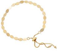 14K Gold Polished Marquise Link Adjustable Bracelet, 2.7g - J348905