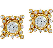 Judith Ripka Sterling & 14K Clad 3.35 cttw Diamonique Earrings - J349005