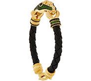 Judith Ripka 14K Clad 1.90 cttw Gemstone Snake Bracelet - J352705