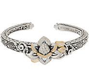 Barbara Bixby Sterling Silver & 18K Gold Gemstone Lotus Cuff - J354005