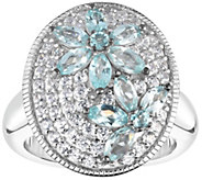 Sterling 2.25 cttw Apatite & White Zircon Ring - J375805