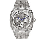 Bulova Mens Crystal Bracelet Watch w/ Pave Dial - J109806