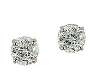 Diamonique 0.75 ct tw 100-Facet Stud Earrings,1 4K Gold - J110206