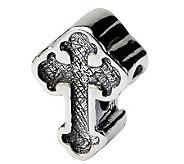 Prerogatives Sterling Silver Celtic Cross Bead - J111506