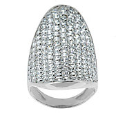 As Is Italian Sterling 4.45cttw Diamonique Saddle Ring - J283206