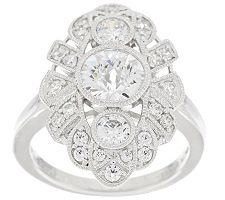 Epiphany Diamonique Vintage Style Ring