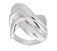 Sterling Polished Sculpted Wave Design Ring - J286406