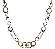 Carolyn Pollack Sterling and Brass 20-3/4L Link Necklace - J287906