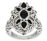 JAI Bali Lanna Sterling & Black Onyx Ring - J288706