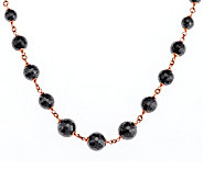 Bronze 18 200.00 cttw Hematite Bead Necklace by Bronzo Italia - J290106