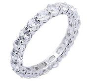 Diamonique 2.70 cttw Eternity Band Ring, Platinum Clad - J297706