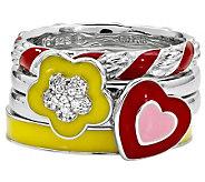 Simply Stacks Sterling Bright Flower Ring Set - J310006