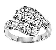 Cluster Diamond Twist Design Ring, 14K, 1.00cttw by Affinity - J311406