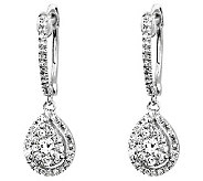 Diamond Hoop w/ Teardrop Dangle Earrings, 14K,by Affinity - J313406