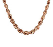 Bronzo Italia 24 Polished Graduated Rope Necklace - J313506