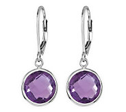 Sterling Faceted Round Gemstone Lever Back Earrings - J313806