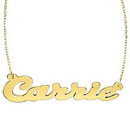 24K Yellow Gold-Plated Sterling Polished Personalized Necklace - J315206