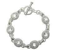 Judith Ripka 7-1/2 Sterling 0.45cttw Diamonique Link Bracelet - J316206