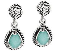 Carolyn Pollack Gemstone Doublet Sterling Drop Earrings - J317106