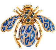 Joan Rivers Leopard Enamel Bee Pin - J318406