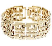 14K Gold Polished Greek Key Design Bracelet Small, 19.0g - J319406