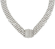 Judith Ripka Sterling 20 Multi-strand Verona Necklace 129.0g - J320006