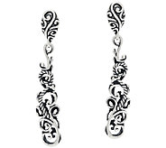 Carolyn Pollack Signature Sterling Teardrop Shape Dangle Earrings - J320106