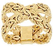14K Gold Byzantine X-Design Ring - J322106
