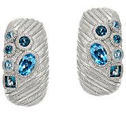 Judith Ripka Sterling Scattered Blue Topaz 1.80 cttw Earrings - J322506