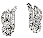 Diamonique Angel Wing Earrings, Sterling - J322906