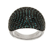 As Is Pave Color Domed Diamond Ring, Sterling, 1.00 cttw Affinity - J324006