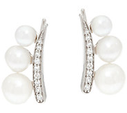 Honora Cultured Pearl Sterling Ear Climber Earrings - J324306