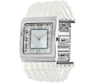 Joan Rivers Ladies Who Lunch Simulated Pearl Watch - J325606