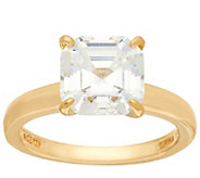 Diamonique 3.00 cttw Solitaire Ring, 14K Yellow Clad - J326506
