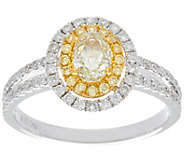 As Is Natural Yellow & White Diamond Ring 14K Gold 1.00ct by Affinity - J332506
