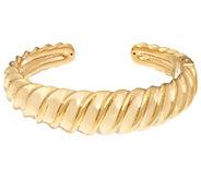 14K Gold Large Polished Bold Sculpted Cuff Bracelet - J334006