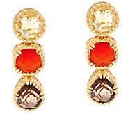 DeLatori Sterling 14K Clad Multi-Gemstone Earrings - J334406