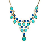 As Is Amrita Singh Simulated Turquoise & Lapis Necklace - J334906
