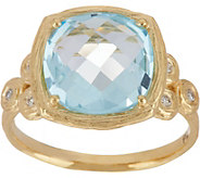Adi Paz Cushion Shape Gemstone & Diamond Ring, 14K Gold - J347906