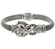 JAI Sterling & 14K Figural Elephant Mesh Bracelet - J350506