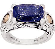 JAI Sterling Silver & 14K Gold Lapis Ring - J351806