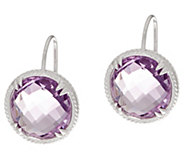 DeLatori Sterling Silver Amethyst or Citrine Drop Earrings - J352506