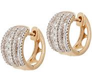 Diamond Huggie Hoop Earrings, 3/4 cttw, 14K, by Affinity - J354806