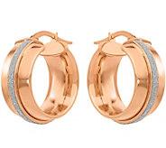 14K Glitter-Infused Hinged Hoop Earrings - J377306