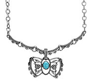 American West Turquoise Butterfly Enhancerw/ Chain - J377506