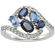 14K White Gold Diamond and Gemstone Ring - J378306